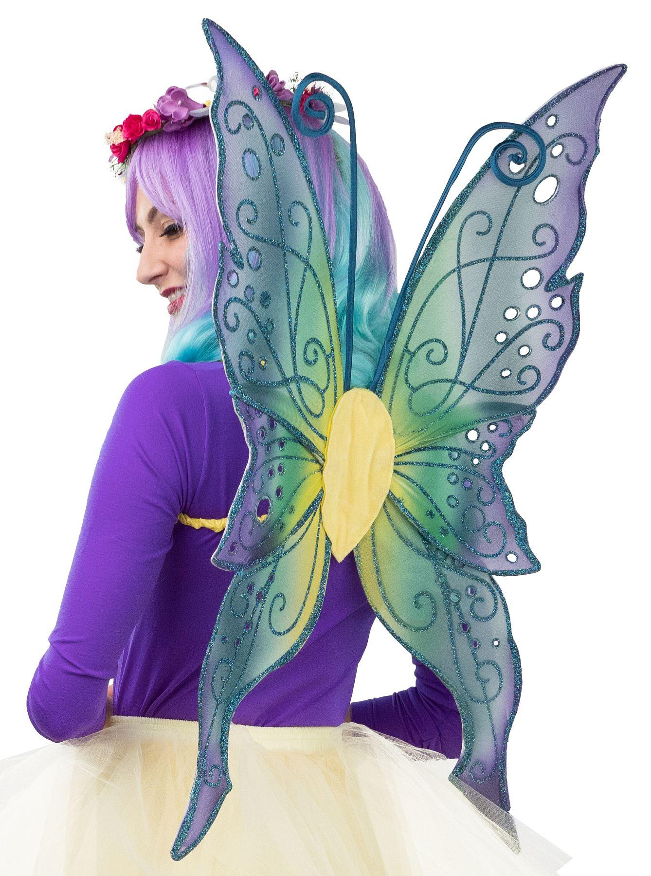 Flügel Schmetterling, grün-lila