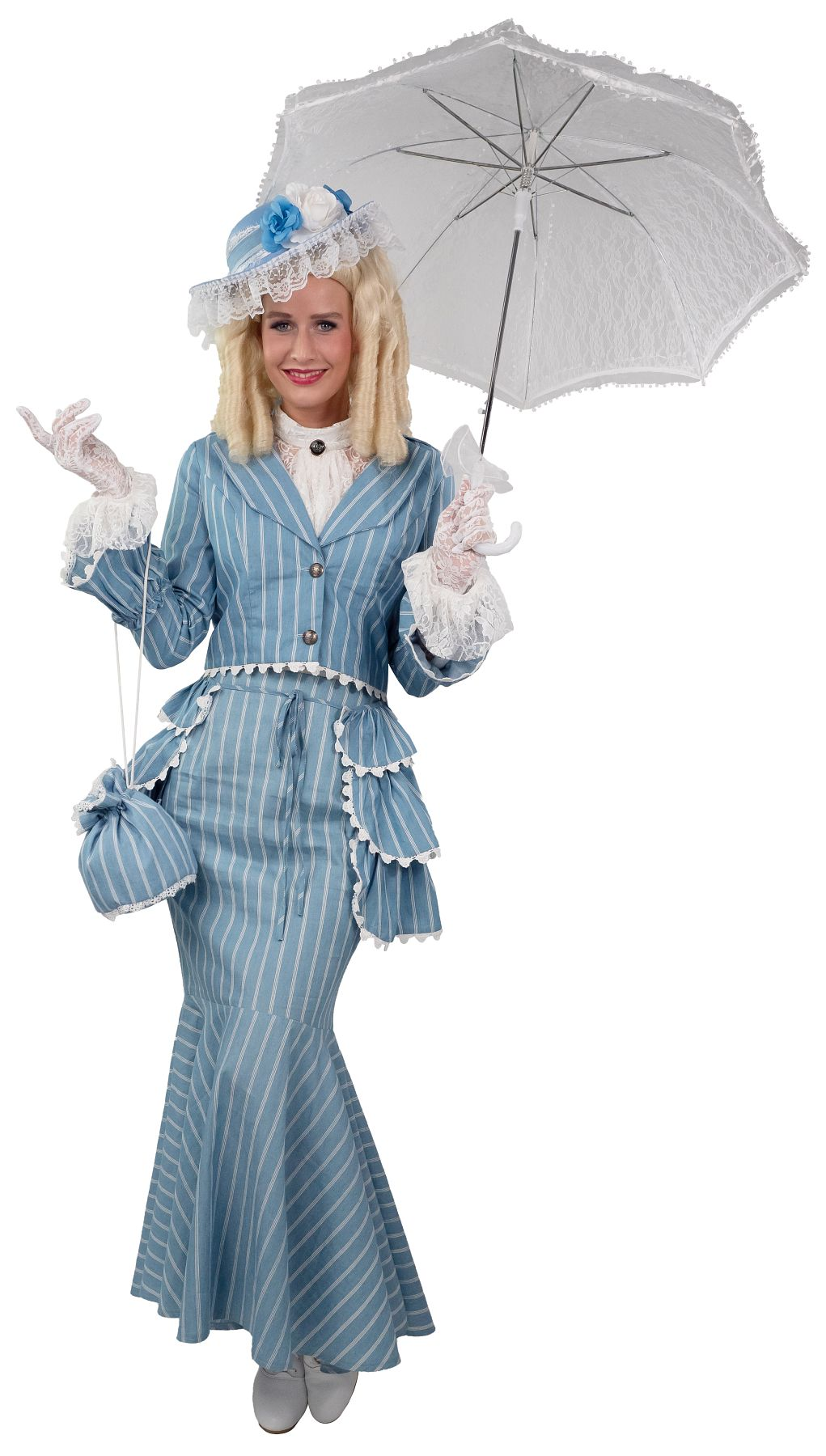 Kostüm Biedermeier, hellblau