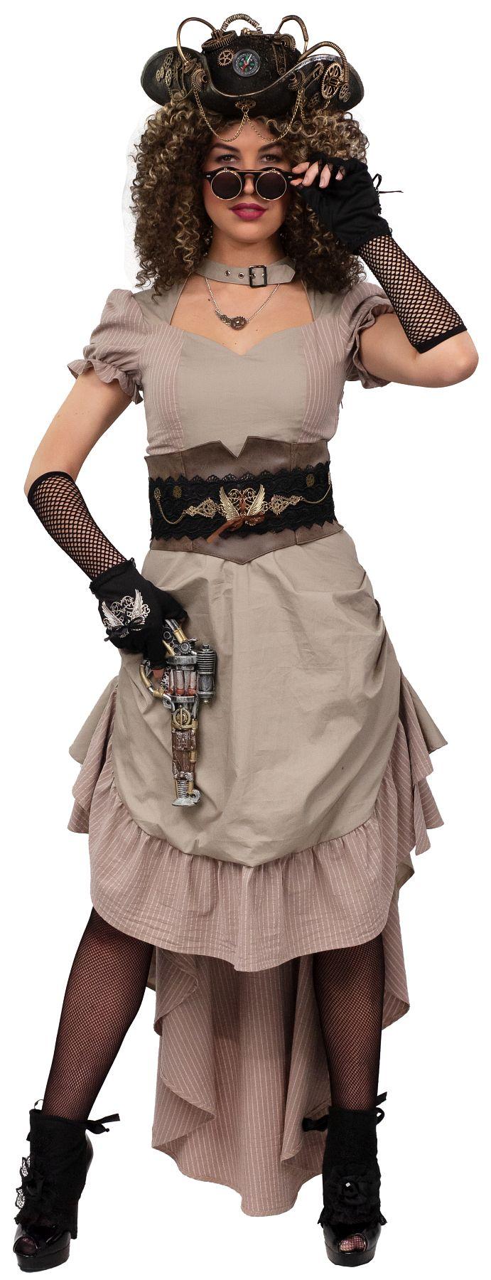 Kleid Steampunk Vokuhila
