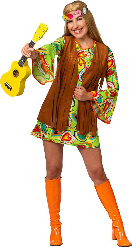 Hippie Weste, braun mit Fransen